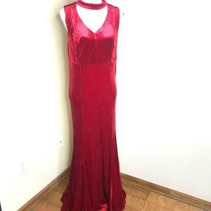 Torrid Velvet Maxi Gown Dress Size 10 Cutout Neck